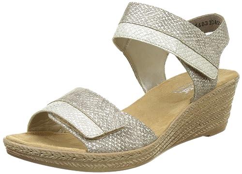 Rieker Sandalette weiss silber   Extra Fashion