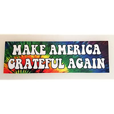Minglewood Trading Make America Grateful Again Vinyl Bumper Sticker - Grateful Dead Jerry Garcia - Tie Dyed MAGA: Automotive