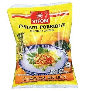 Vifon Instant Chicken Porridge Bag - Chao Ga (50 Count)