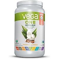Vega One Organic All-in-One Shake Coconut Almond (18 Servings, 24.3 oz) - Plant Based Vegan Protein Powder, Non Dairy, Gluten Free, Non GMO
