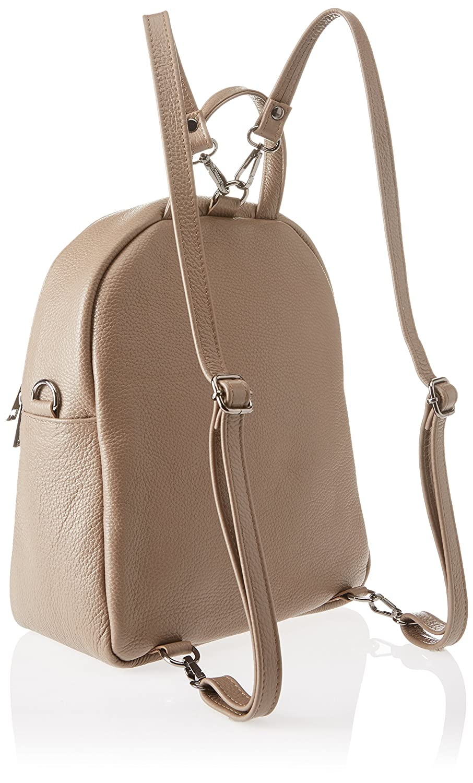Chicca Borse dam 8702 1 ryggsäck handväska, 28 x 32 x 15 cm Beige (mullvadsgrå)