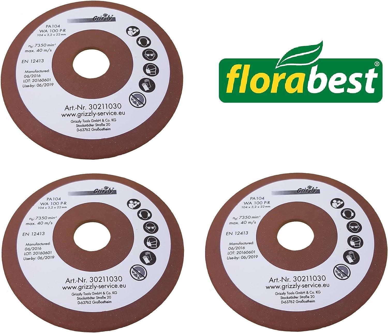 3x Flora Best lija afilador de cadenas FSG 85B1Ian 109744