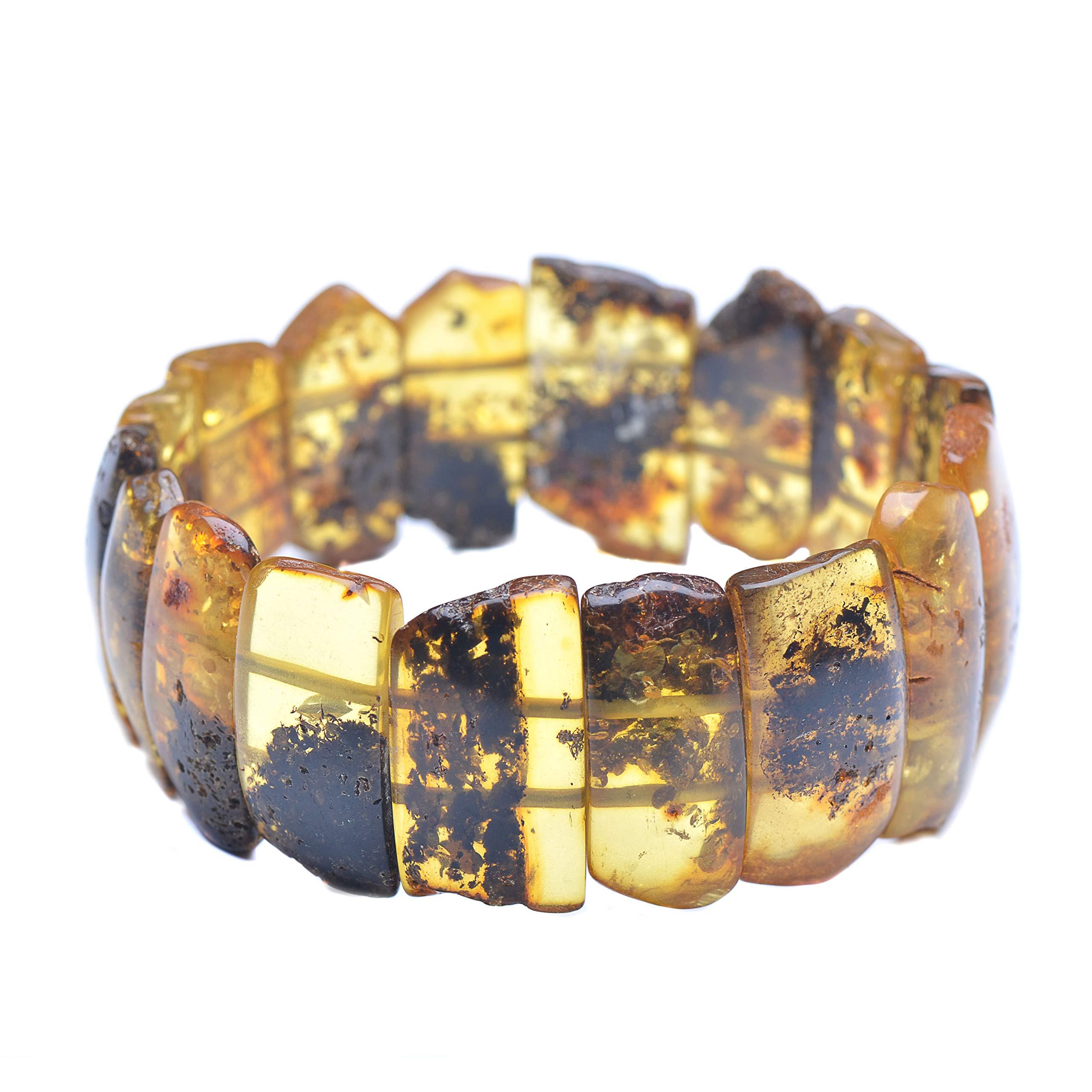 Vintage Bracelet - Amber Bracelet - Vintage Amber Bracelet - Unique Baltic Amber Jewelry - Exclusive Bracelet - Genuine Amber by Genuine Amber