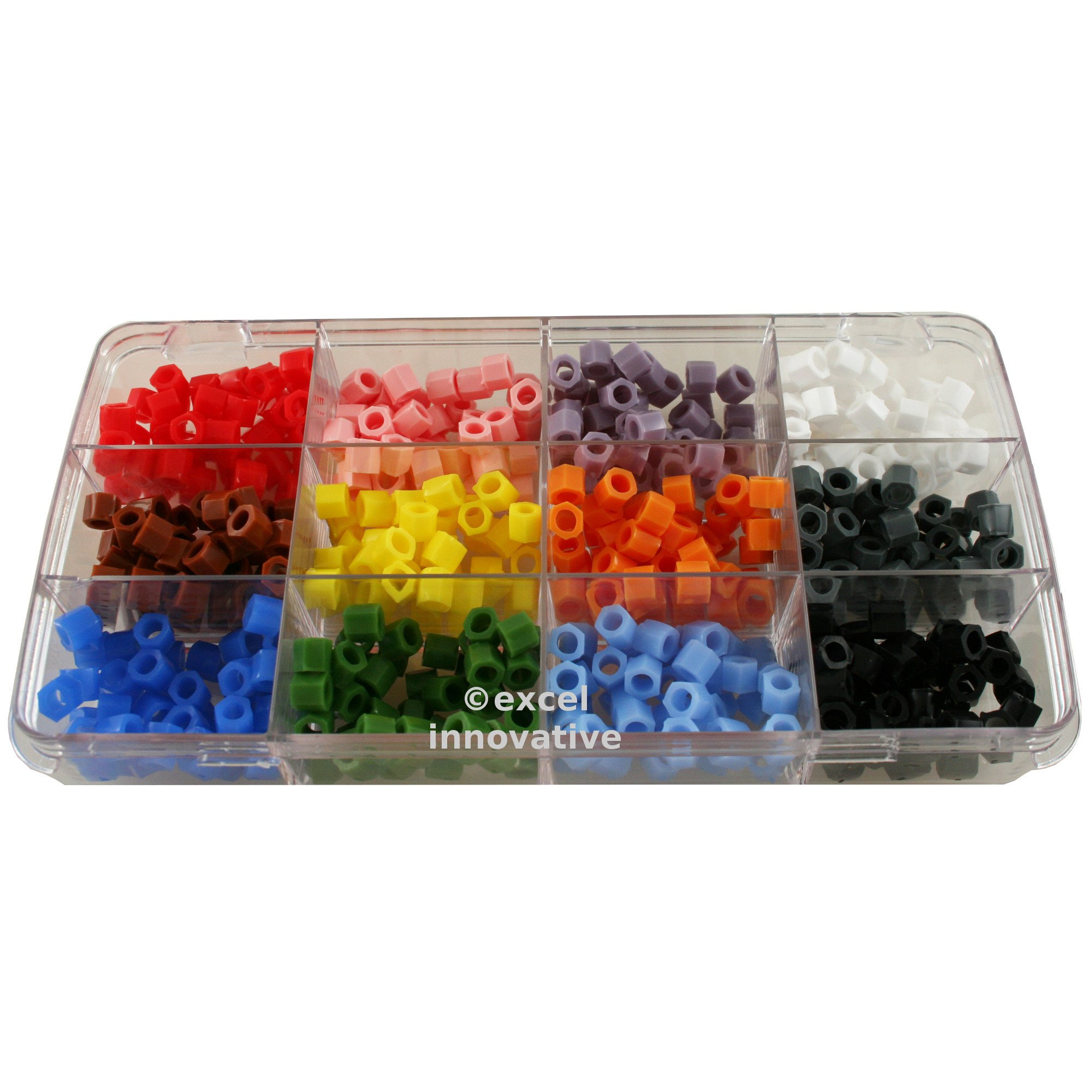 Kit of Silicone Color Bands for Instruments Identification 12 Assorted Colors in a Case 480pcs | Medixplus