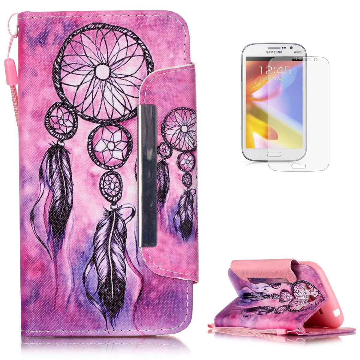 KaseHom Compatible with Case Samsung Galaxy Grand Neo Plus i9060 Wallet Funda Carcasa Libro PU Premium Leather Flip Case Cover Fuerte Cierre Magnético ...
