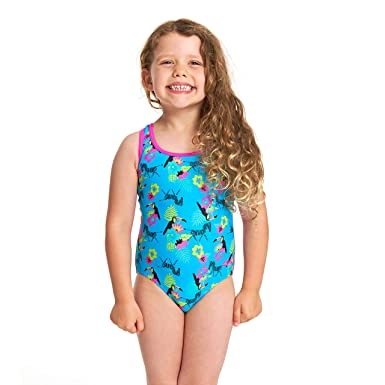 9345bd05d4c Zoggs Girls' Petit Safari Actionback One Piece Swimsuit: Amazon.co.uk:  Clothing