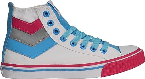 Pony - Zapatillas para Hombre Blanco Blanco: Amazon.es: Zapatos y complementos