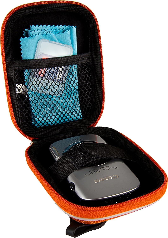 Orange VanGoddy Semi Hard Nylon Carrying Case for Bell Plus Howell Splash WP7 Waterproof Digital Camera and Screen Protector