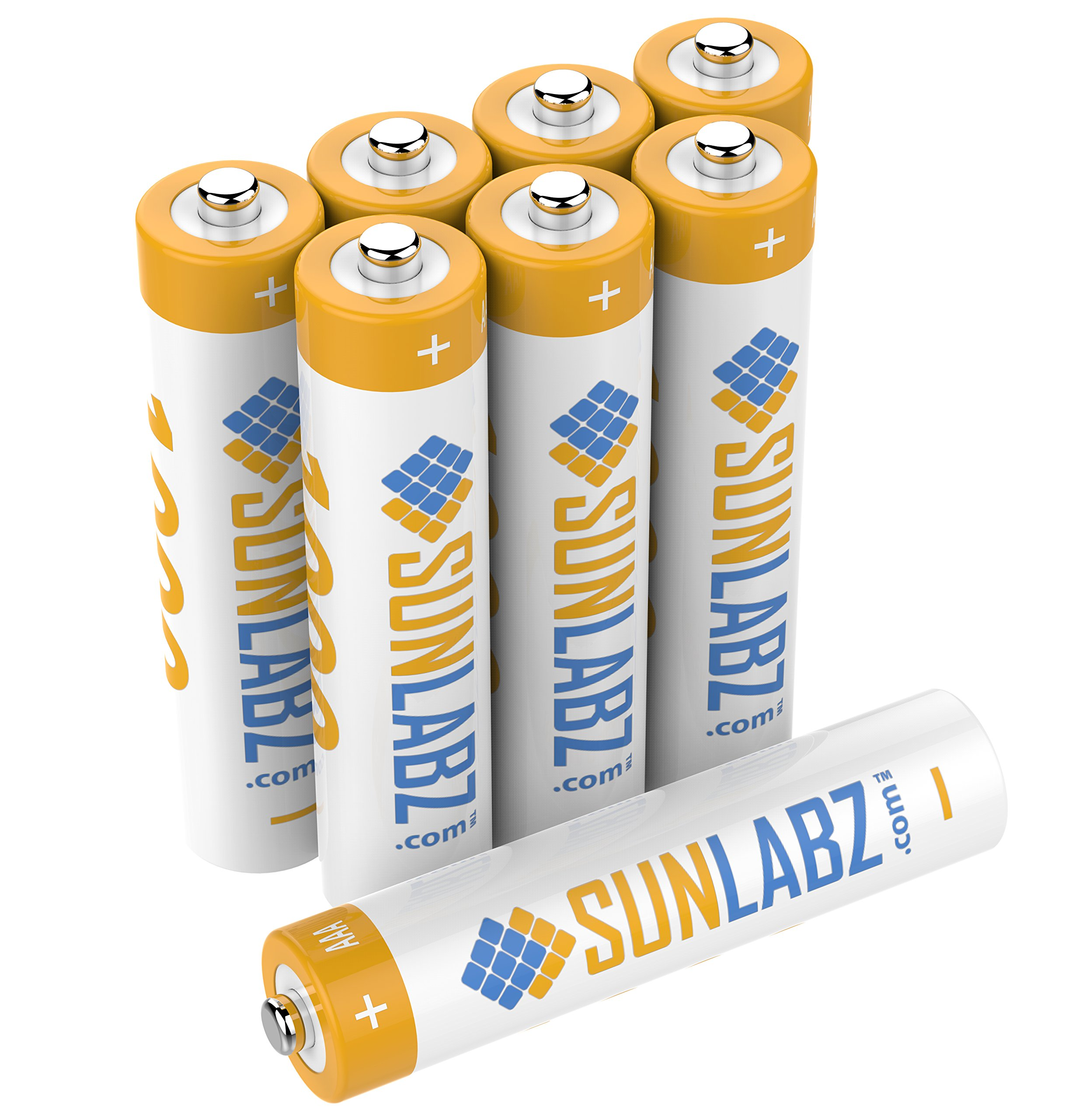SunLabz AAA Rechargeable Batteries, Ultra-Efficient NiCD, 8 Pack
