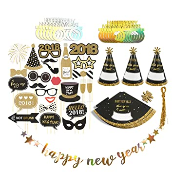 new years eve party supplies 2018 set 25 photo booth props 12 new year