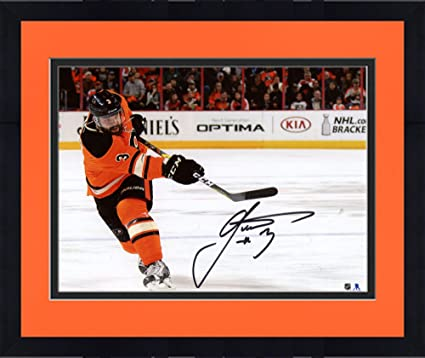 06606766e Image Unavailable. Image not available for. Color  Framed Radko Gudas  Philadelphia Flyers Autographed 8 quot  x 10 quot  Orange Jersey ...