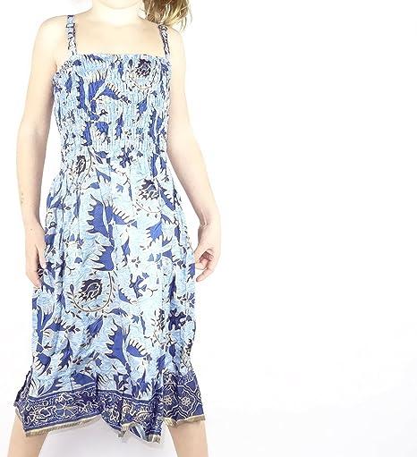 Robe Fille 4 A 5 Ans Fillette Enfant Ethnique Batik Vetement Coton Fille Smokee Reglable Ajustable Bleu Bleue Amazon Fr Bebes Puericulture