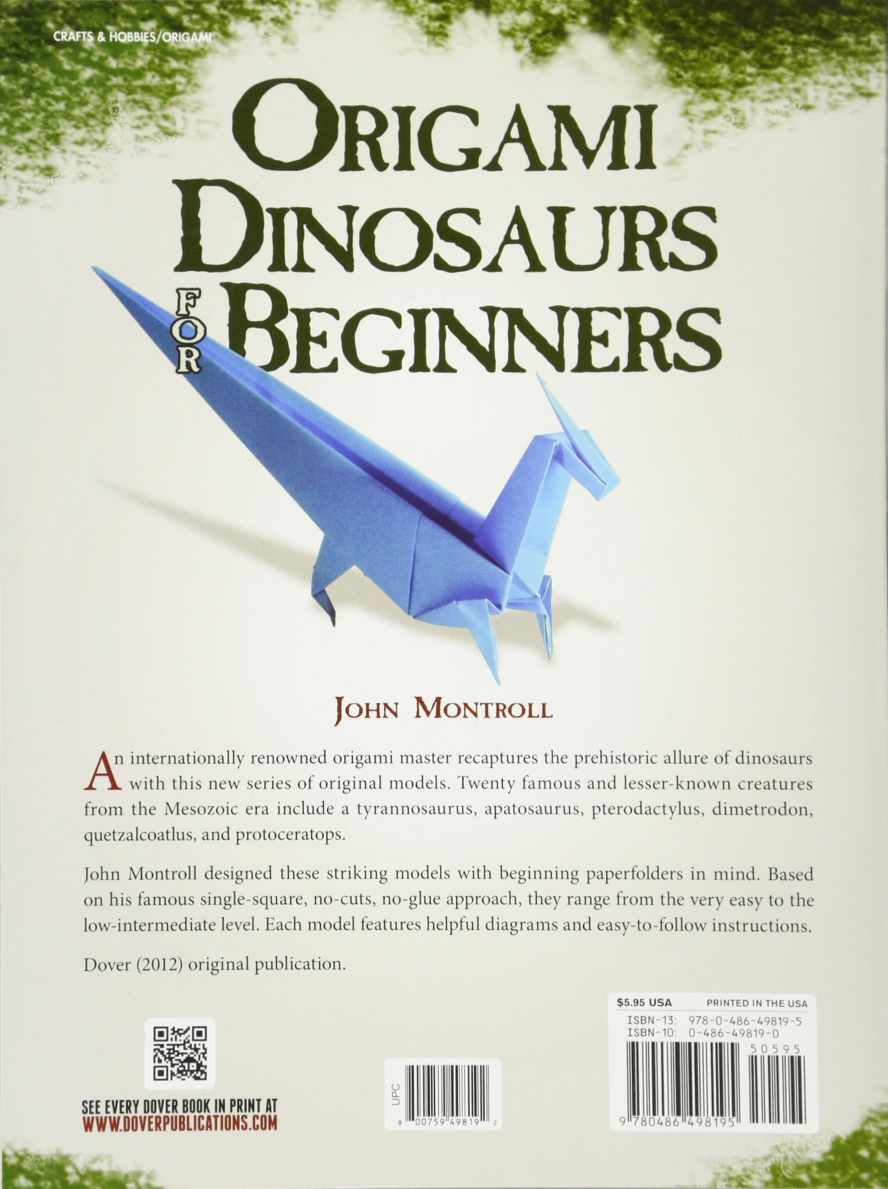 Awesome Origami Dinosaurs For Beginners Dover Origami Papercraft John Wiring Digital Resources Remcakbiperorg