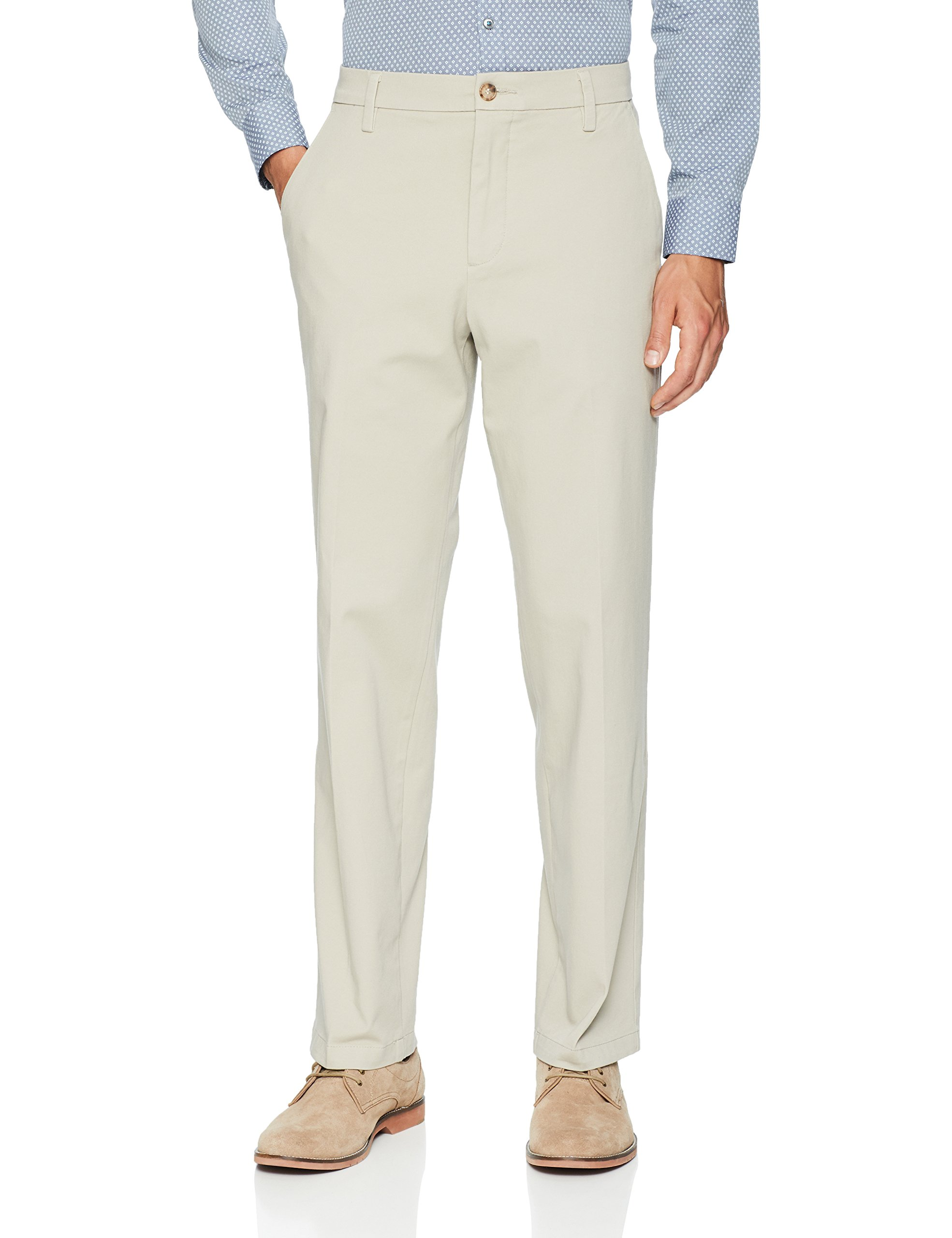 Dockers Men's Classic Fit Workday Khaki Smart 360 Flex Pants D3, Safari Beige (Stretch), 30W x 30L