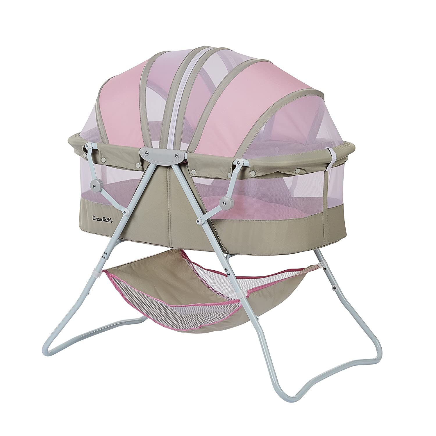 Dream On Me Karley Bassinet, Grey/Pink 441-GP
