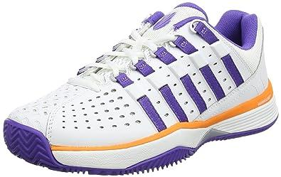 Damen Express Light Tennisschuhe, Weiß (White/Purple/Orange), 37.5 EU K-Swiss