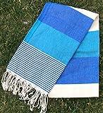 "Paramus 100% Turkish Cotton Turkish Peshtemal Hamam Towel Wrap Pareo Fouta (37x""70"")"
