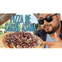 Pizza mexicana a la parrilla con carne asada y chorizo (sin horno)