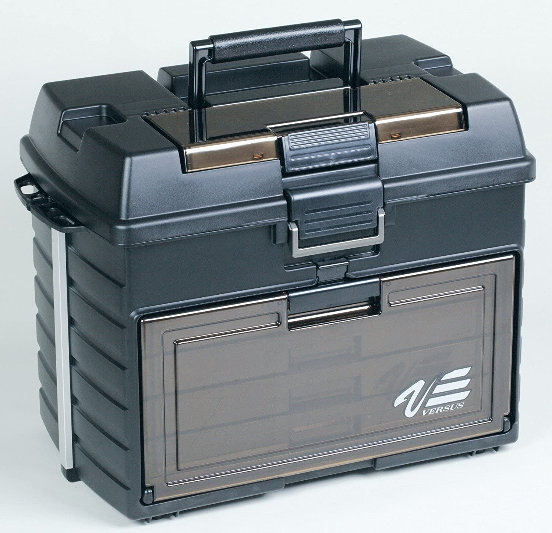 Angelbox auch als Angelsitz zu verwenden! Angelkasten 542 x 300 x 397 mm Meiho Versus VS 8050 Angelbox Angelkoffer gr/ün