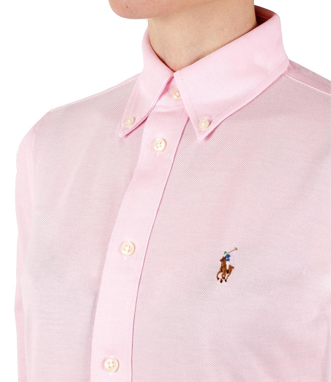 7d0a2e6f1d5 Ralph Lauren Chemise Polo en Coton piqué Rose pour Femme  Amazon.fr   Vêtements et accessoires