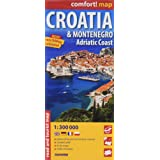 Croatie et Monténégro, Côte Adriatique : 1/300000