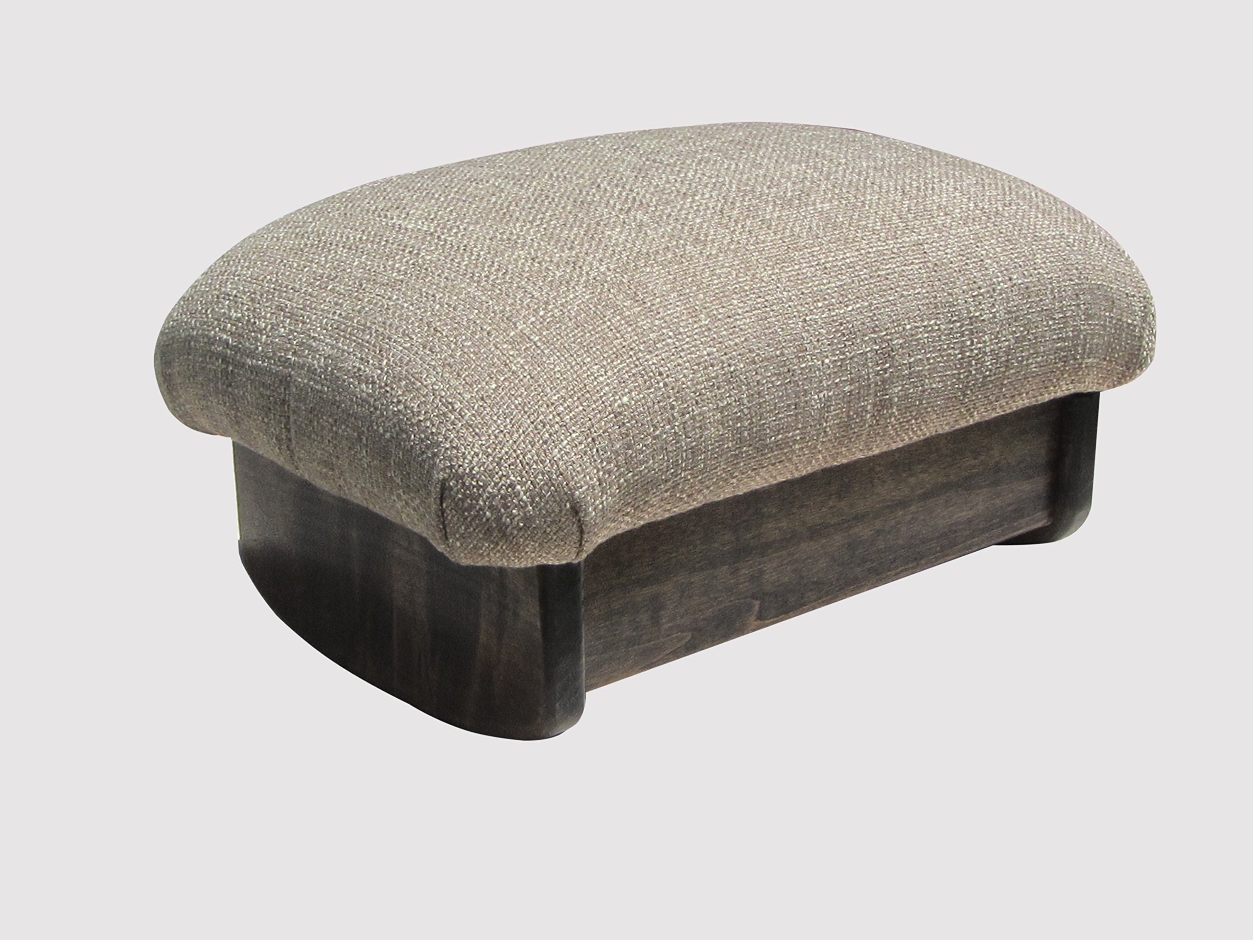 Rocking Padded Foot Stool 7'' Tall Walnut Stain (Made in the USA) (Desert Sand)
