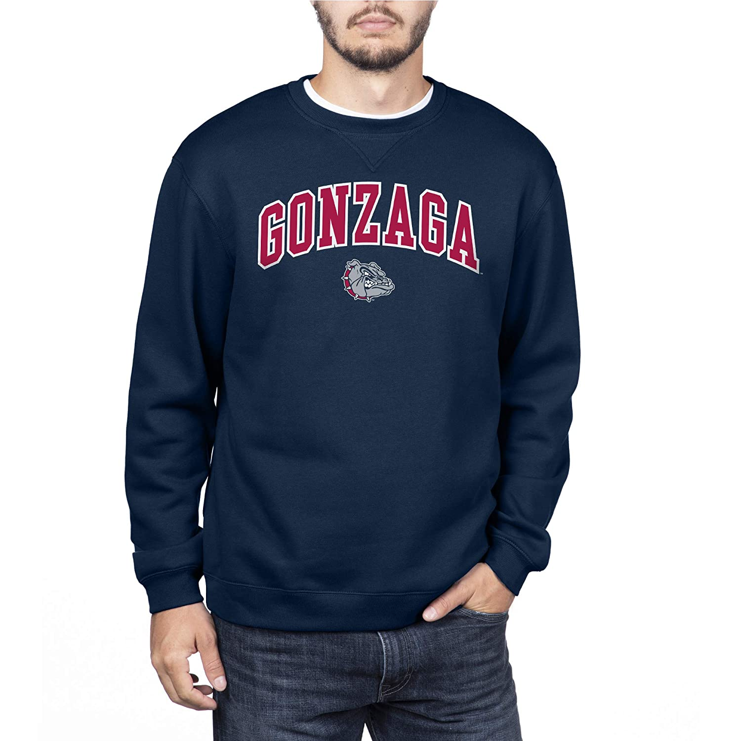 Navy XX-Large NCAA Gonzaga Bulldogs Mens Team Color Crewneck Sweatshirt