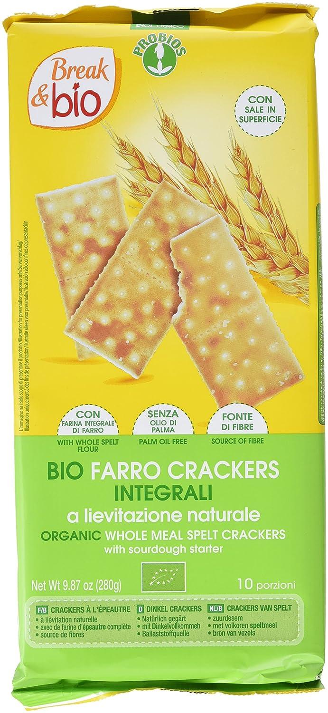Probios Break&Bio Cracker de Espelta con Levadura - 12 paquetes ...