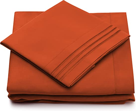 """2 FREE PILLOWCASE superking CHOCOLATE 10/"""" DEEP SUPER KING SIZE FITTED SHEET"""