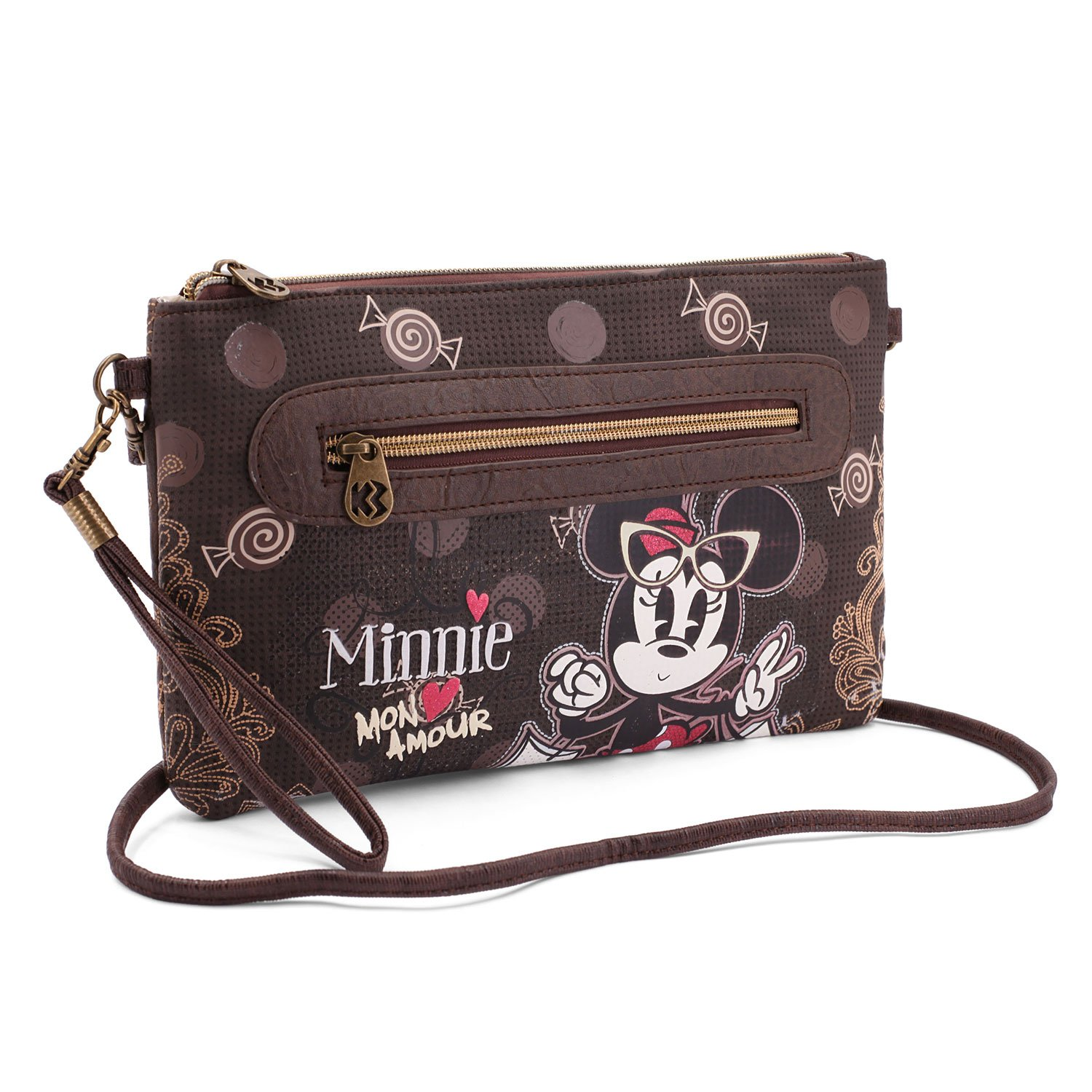 Karactermania Minnie Mouse Mon Amour-Action Handy Shoulder Bag Sac bandouliè re, 28 cm, Marron (Brown) 36598