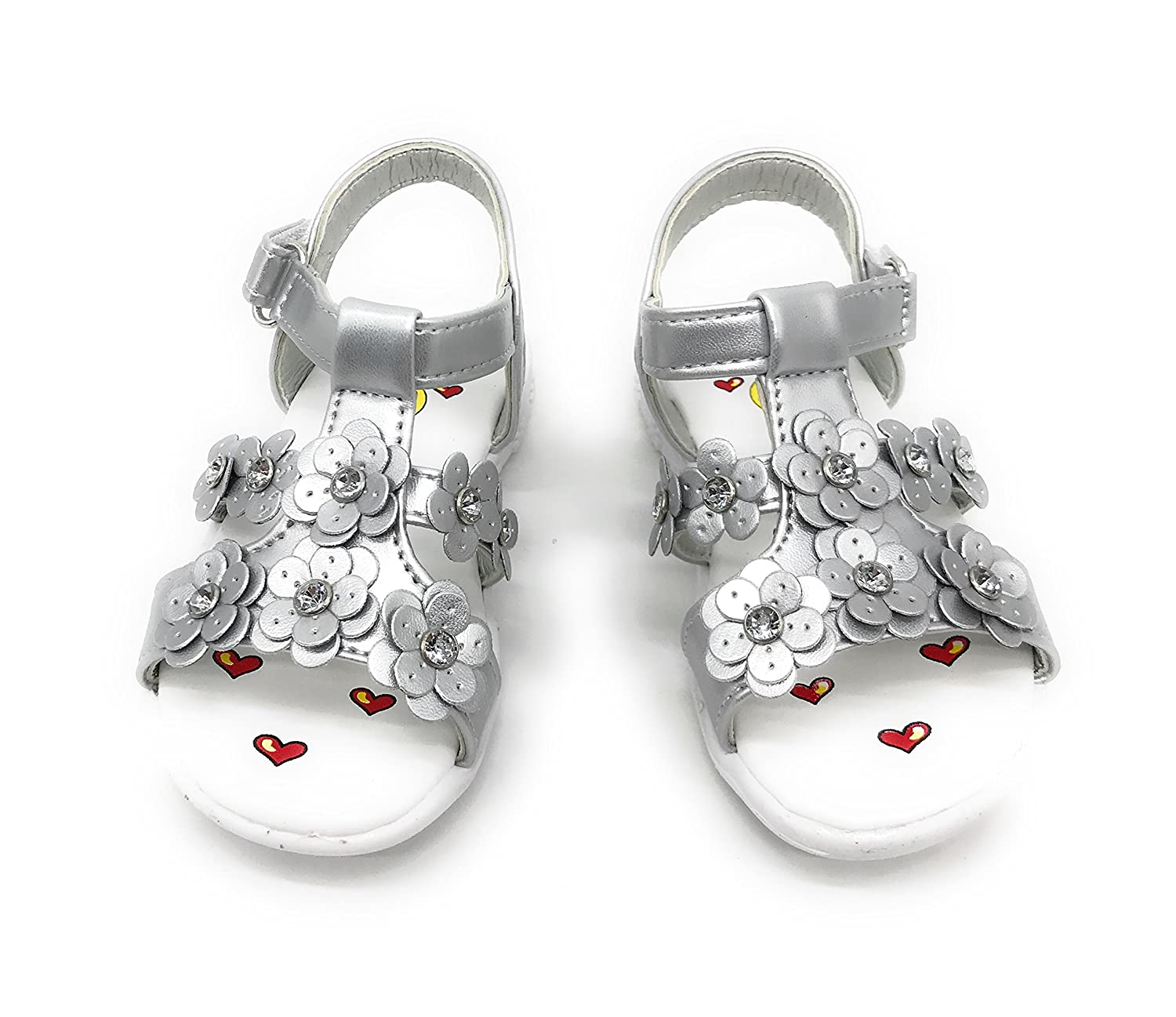 Blue Berry EASY21 Infant Baby& Toddler Girl Open Toe Gladiator Zip up Sandals
