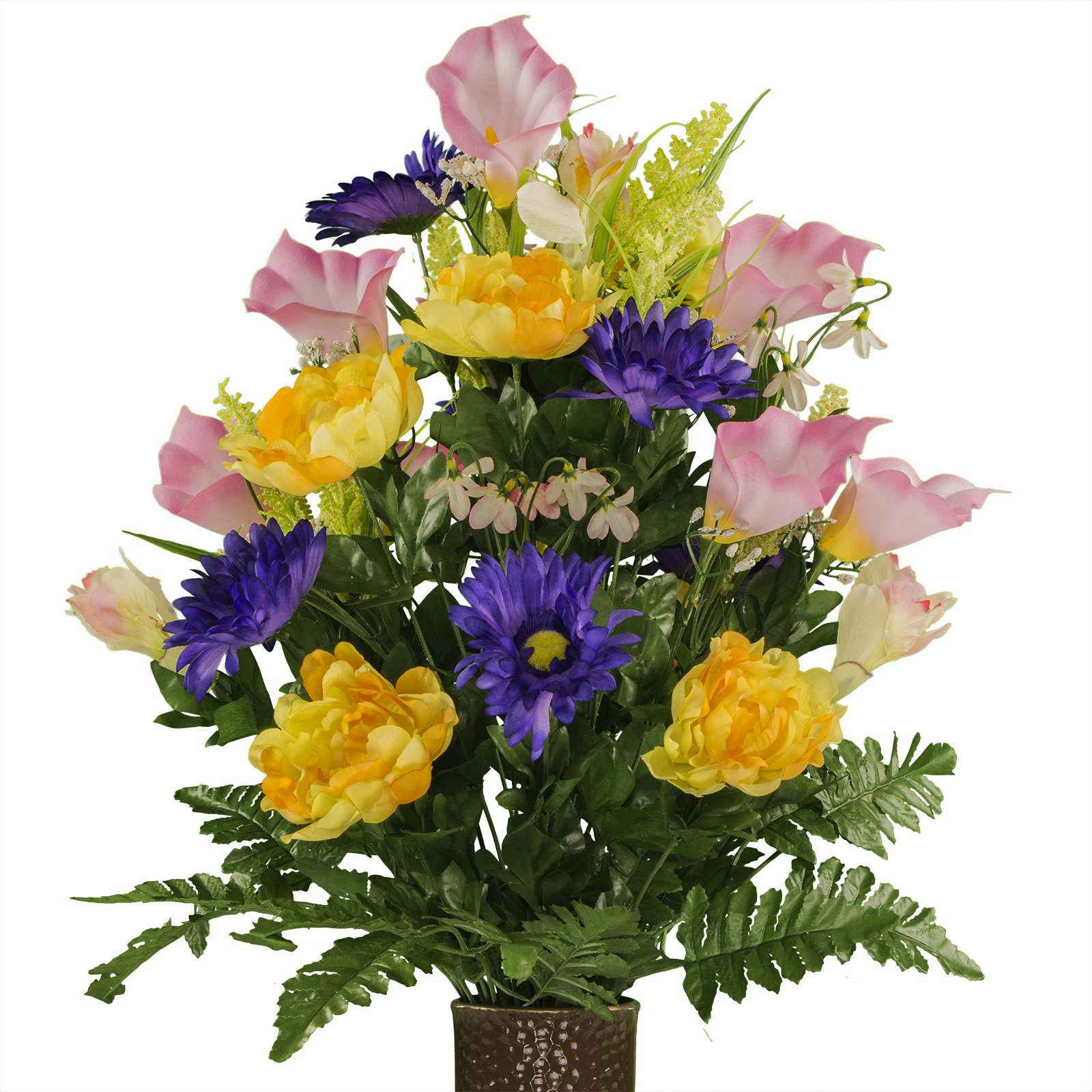 Lavender-Cream-Purple-Mix-featuring-the-Stay-In-The-Vase-DesignC-Flower-Holder-LG1948