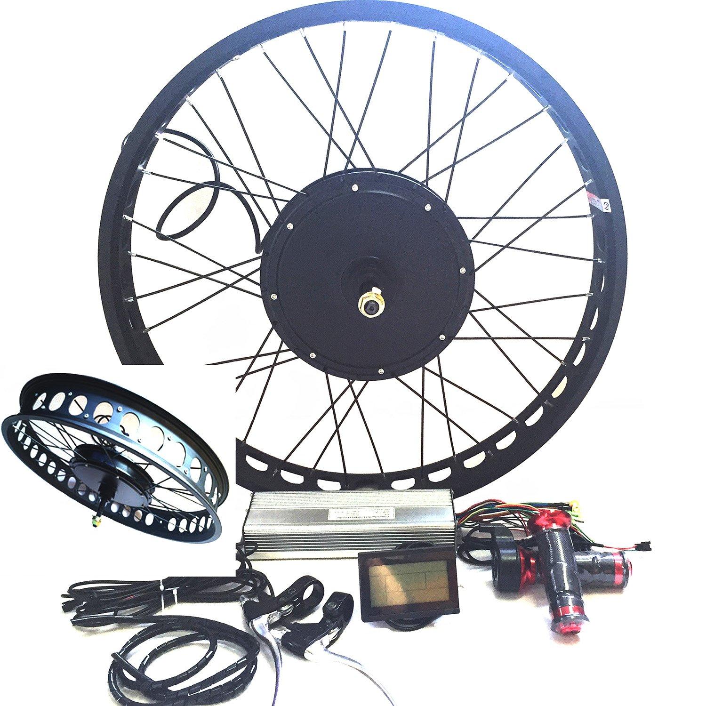 Check Price On Amazon 3000w Hub Motor Electric Bike Conversion Kit + LCD + Disk Brake Rear Wheel Theebike Motor Review
