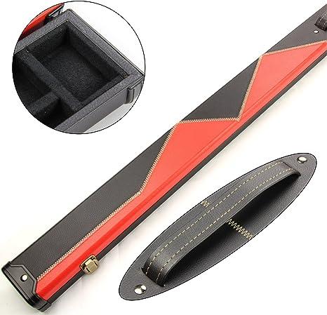 2 tacos de billar rojo y negro 1 pieza Estuche para palo de billar - 149 de hombre jugando al billar Max longitud: Amazon.es: Deportes y aire libre