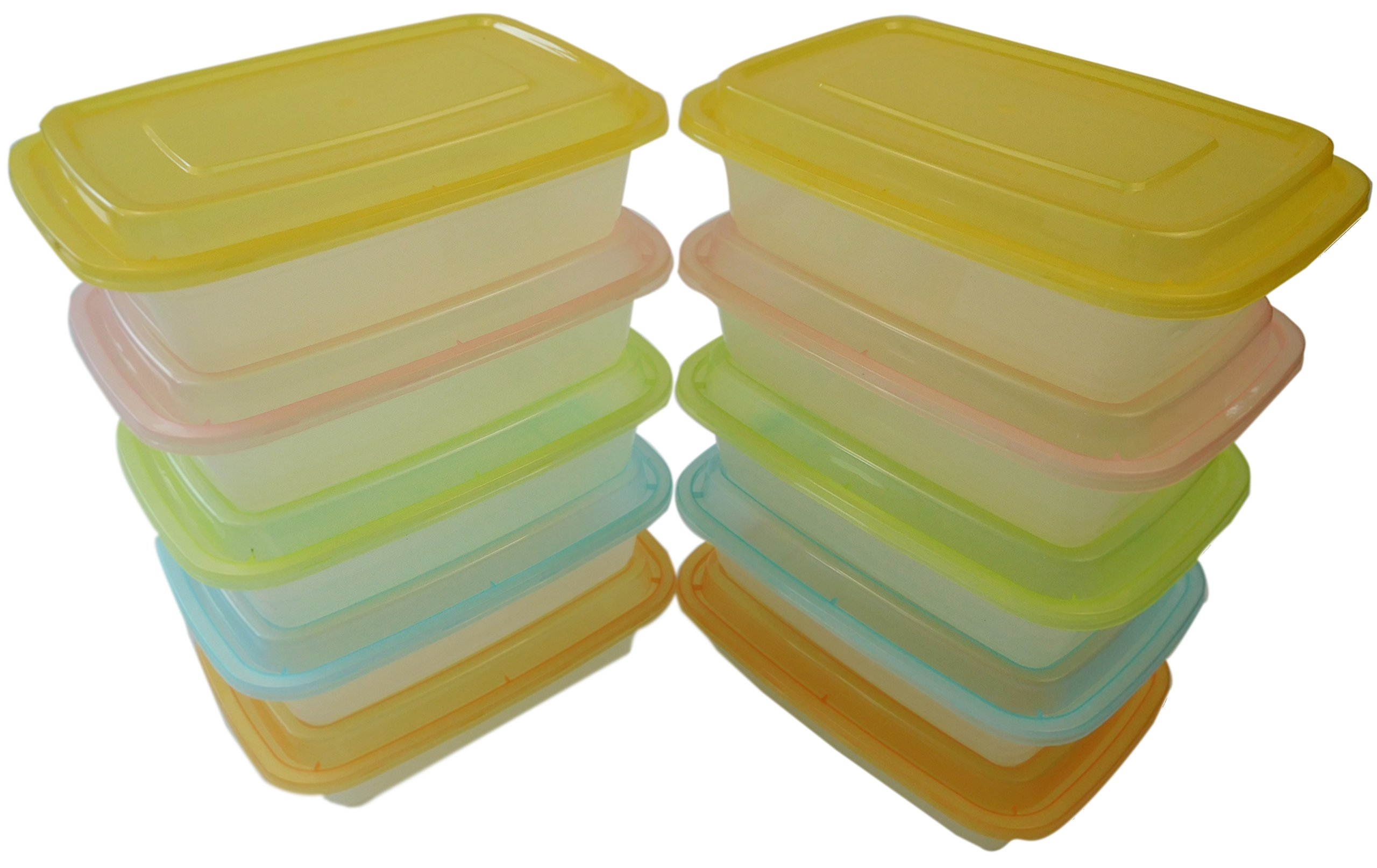 Table To Go 240-Pack Bento Lunch Boxes with Lids (1 Compartment/ 34 oz) (Multicolor Lids)