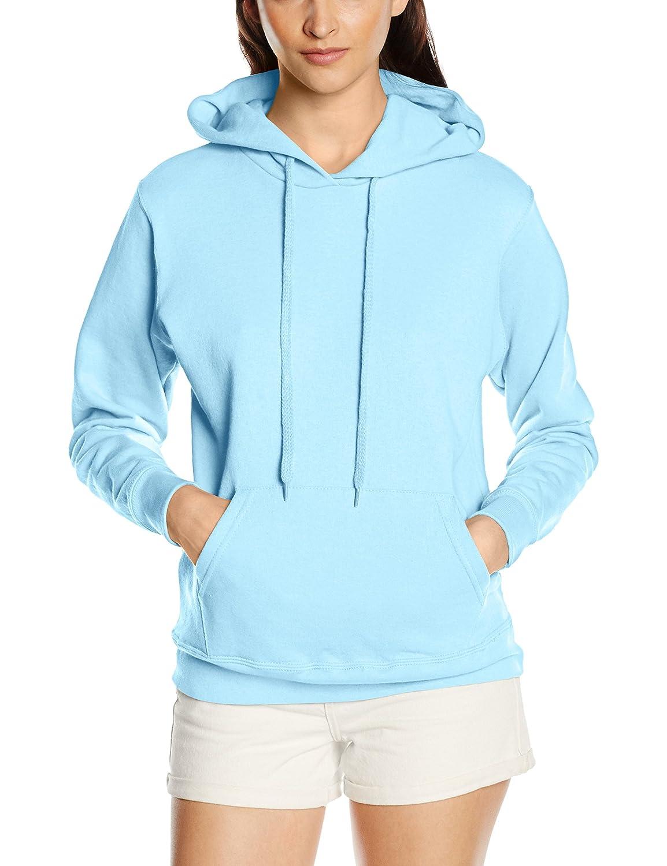 Womens Fruit of The Loom Lady Fit Hooded Sweatshirt, 10 Hoodies Colours BTC