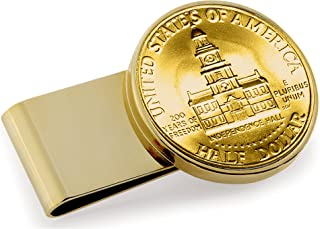 product image for Gold-Layered JFK Bicentennial Half Dollar Stainless Steel Coin Money Clip