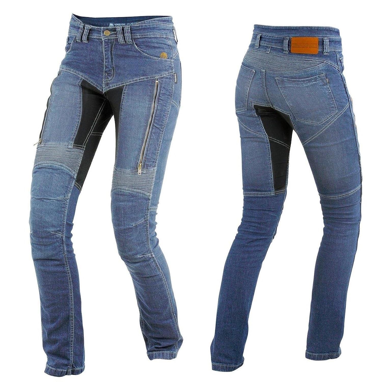 Trilobit Motorrad Damen Jeans,blau 32L