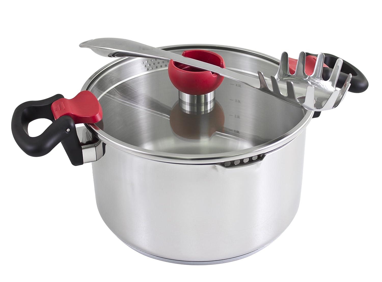Kopf Nelo Batería de Cocina, Acero Inoxidable, 24 cm, 7 Unidades: Amazon.es: Hogar