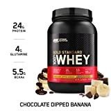 OPTIMUM NUTRITION Gold Standard 100% Whey Protein Powder, Chocolate Dipped Banana 2 Pound (Packaging May Vary)
