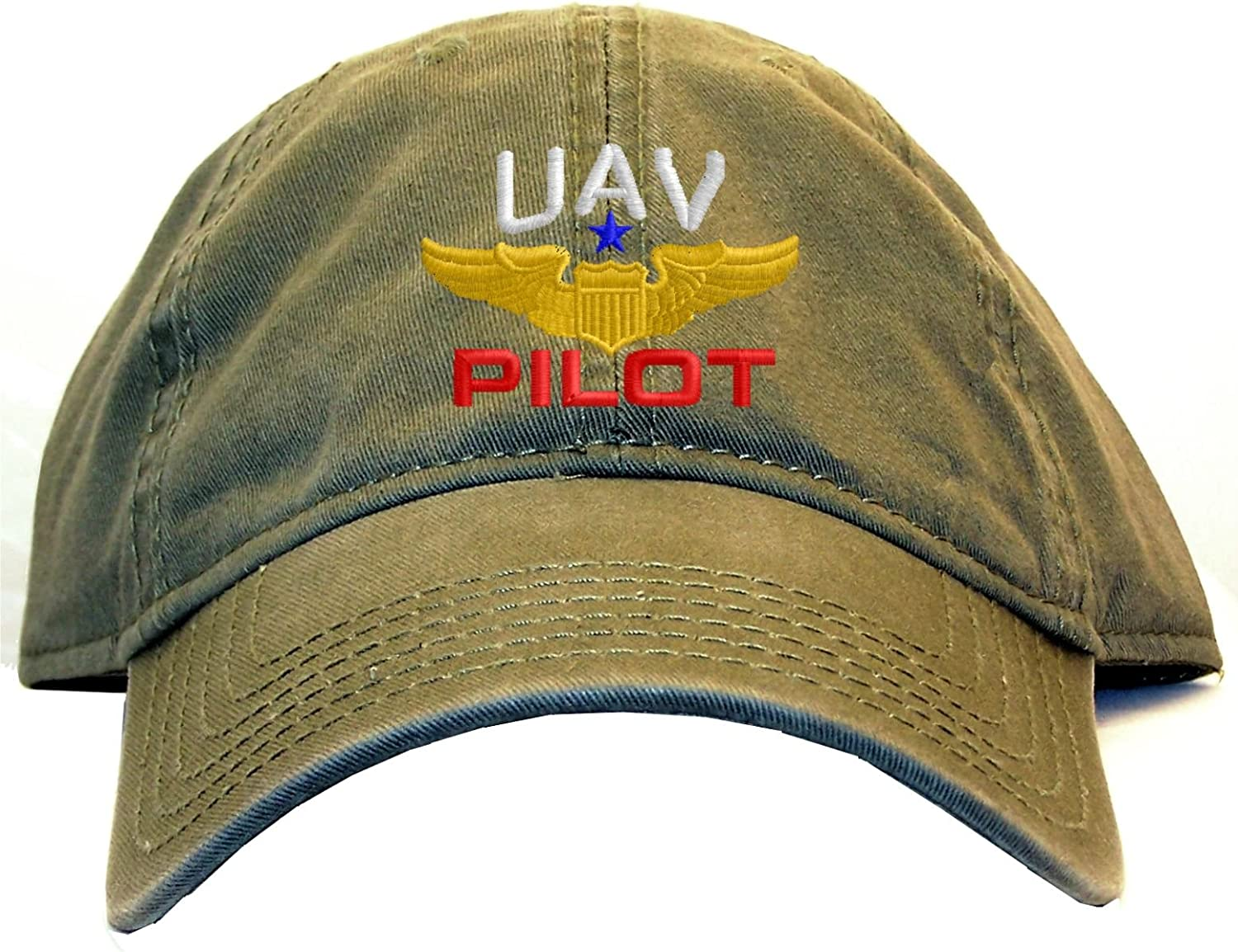 Spiffy Custom Gifts UAV Pilot with Wings Low Profile Baseball Cap