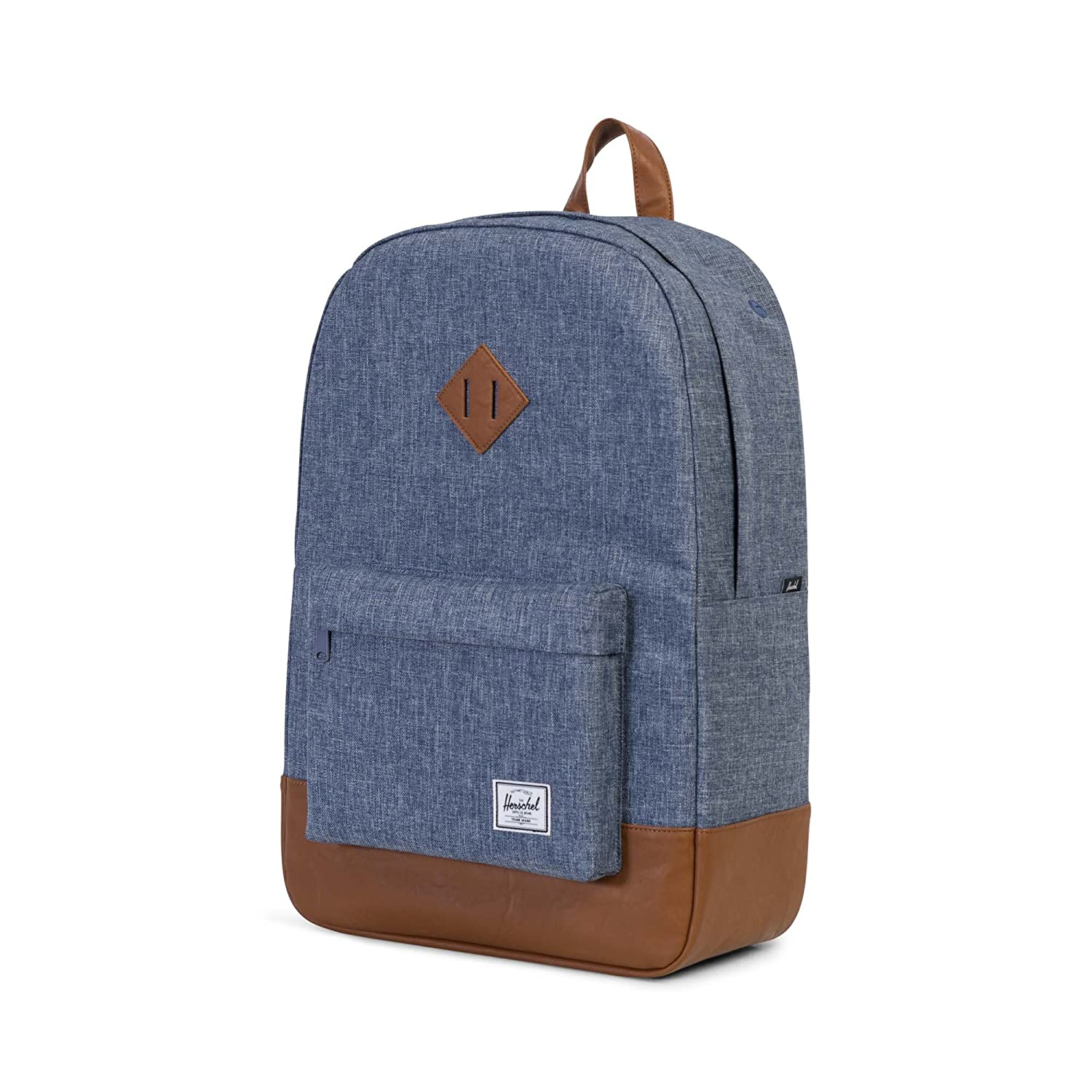 de0c949919 Herschel Heritage Backpack-Dark Chambray Crosshatch Tan Synthetic Leather