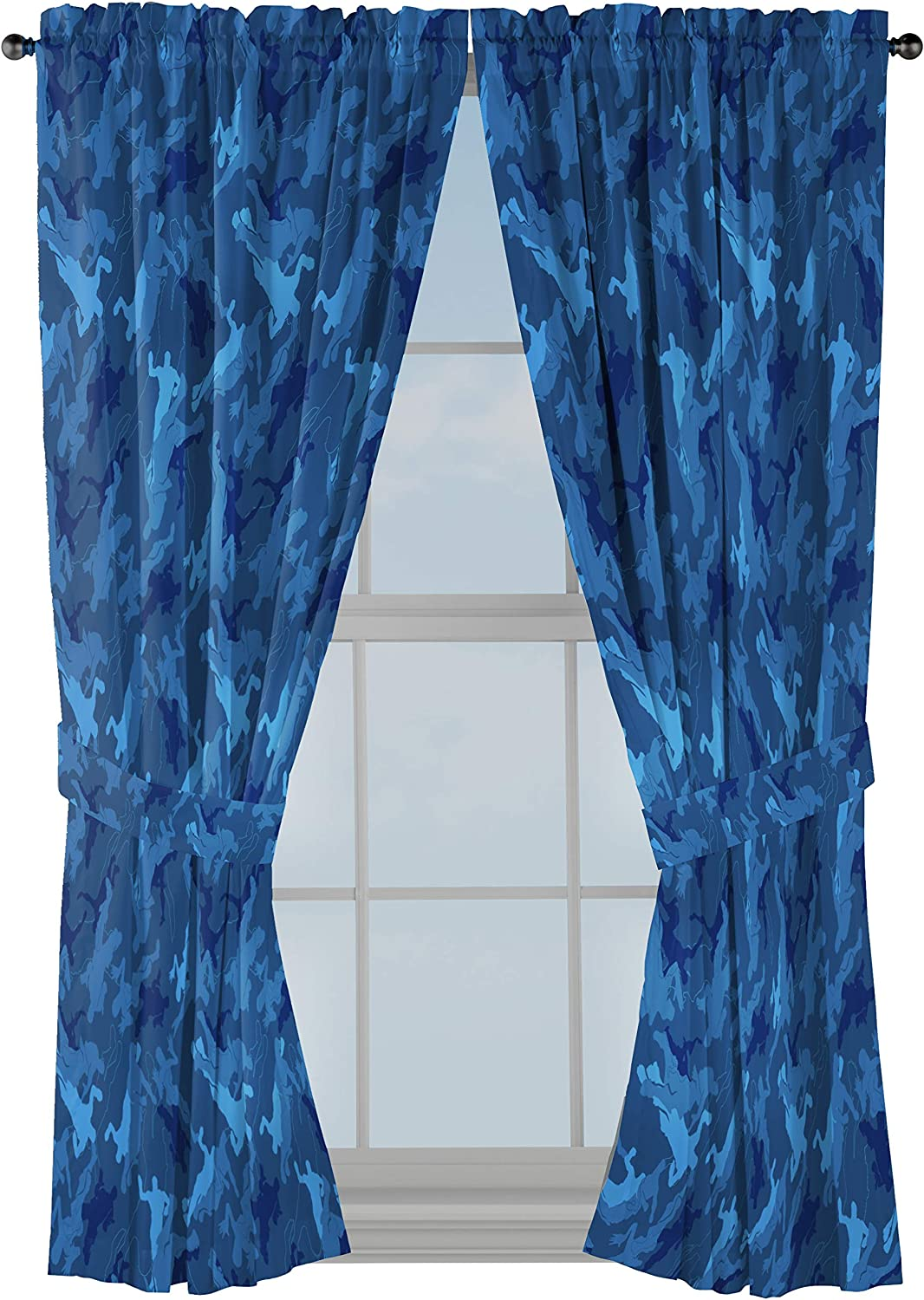 "Jay Franco Fortnite Emote Camo 63"" inch Drapes - Beautiful Room Décor & Easy Set Up, Bedding - Curtains Include 2 Tiebacks, 4 Piece Set (Official Fortnite Product)"