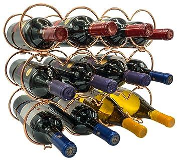 Amazoncom Sorbus 3 Tier Stackable Wine Rack Round Classic Style
