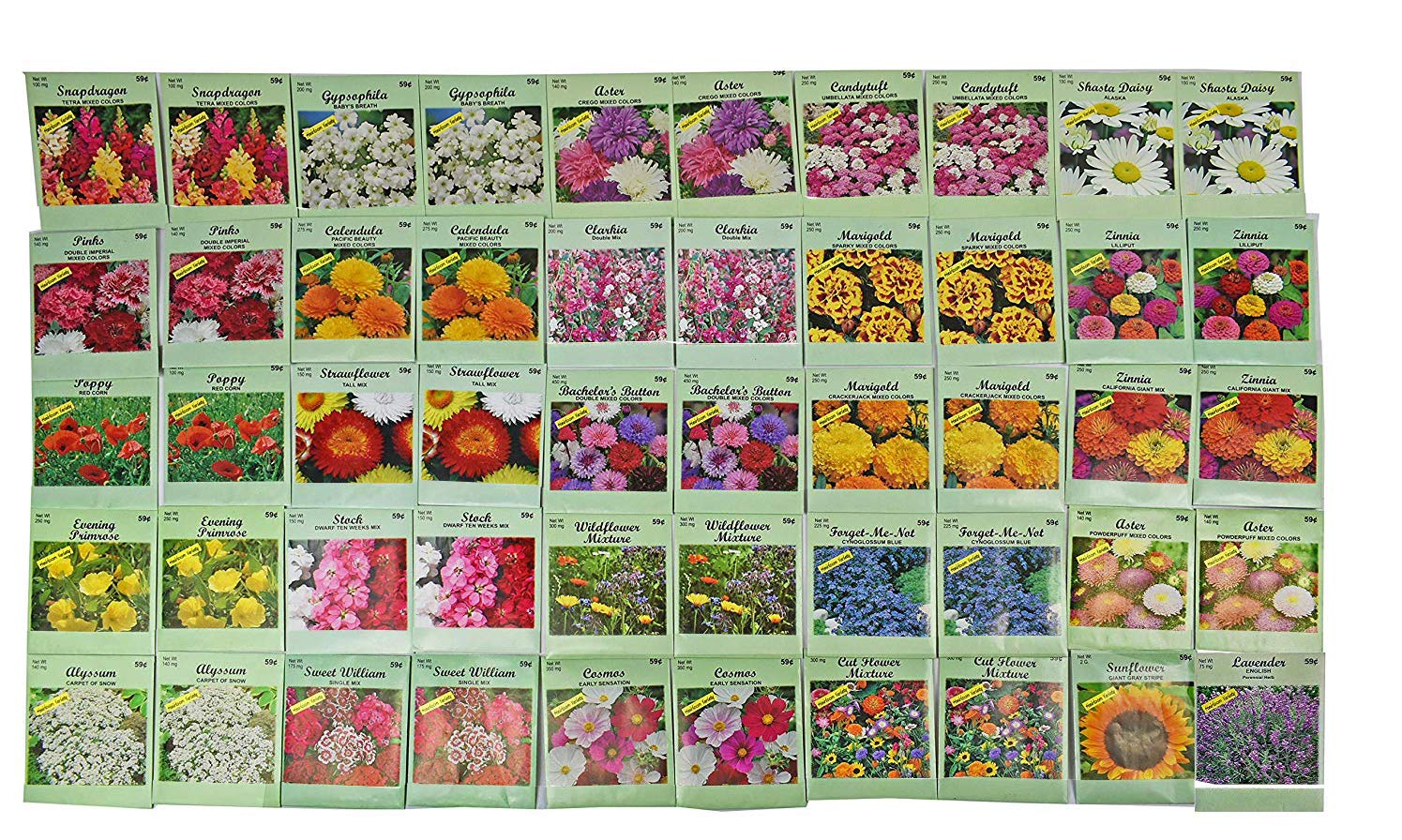 Set of 1000 Assorted Valley Green Flower Seed Packets! Flower Seeds in Bulk - 20+ Varieties Available! (1000) by Valley Greene (Image #2)