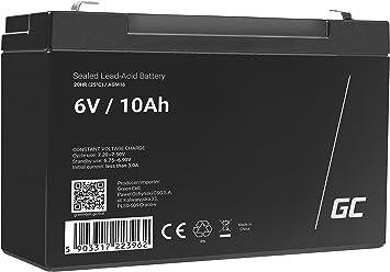 Green Cell Agm 6v 10ah Akku Vrla Blei Batterie Elektronik