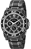 Breil Men's Quartz Watch with Black Dial Analogue Display and Black PU Bracelet TW0995