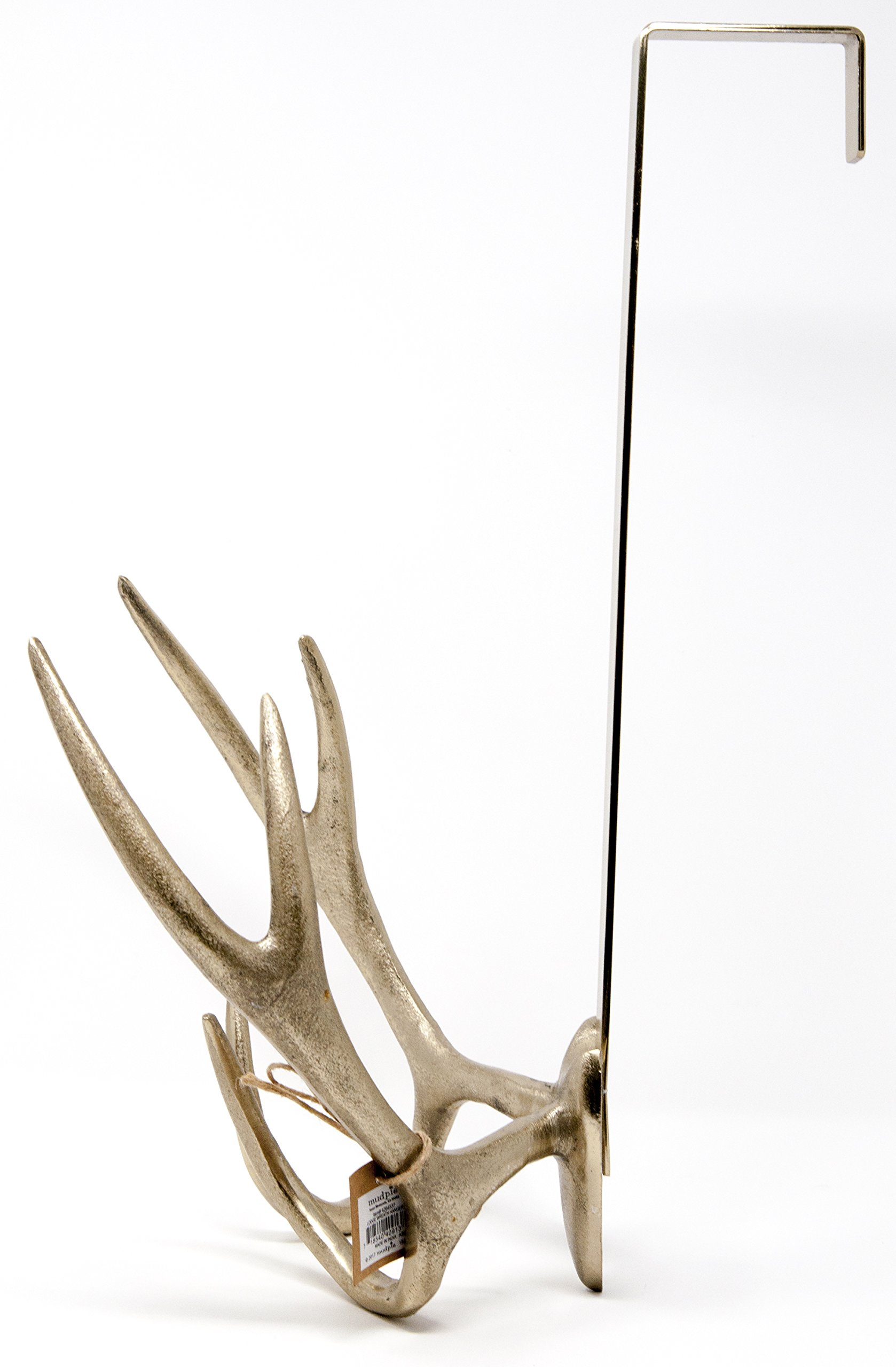 Mud Pie Antler Wreath Holder Over the Door Hanger Gold