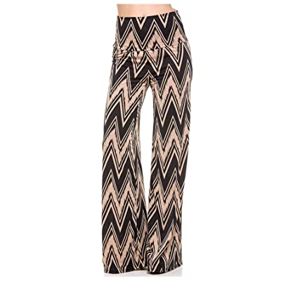 G2 Chic Women's Printed High Waist Bohemian Palazzo Pants at Women's Clothing store