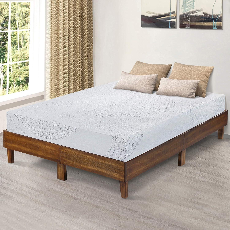 Support//Wood Platform Full PrimaSleep 14 inch Bed Frame Brown